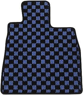 Elgan(エルガン) フロアマット(1台分) ドレスアップシリーズ チェック柄 ブルー トヨタ マークII 10.08-12.10 JZX,GX,LX100  4WD AT車
