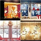 Schneeflocken Aufkleber, TedGem Schneeflocken Fensterbild, Weihnachtsdeko, Weihnachten Fensterdeko Set, DIY Weihnachtsdeko, Winter Dekoration für Türen, Schaufenster, PVC Fensterdeko Set und mehr - 3