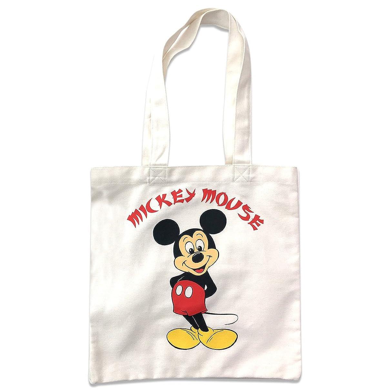 村おかしい農学ディズニー カラートートバッグ ミッキーマウス ホワイト APDS3049