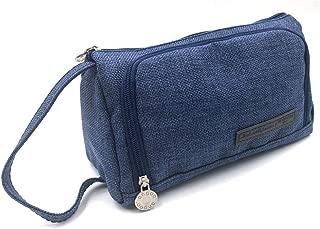 Large Capacity Pencil Case, Portable Zipper Closure Makeup Bag, Canvas Cell Phone Earphone Pouch (violet)