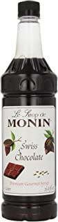Monin Flavored Syrup, Swiss Chocolate, 33.8-Ounce Plastic Bottles (Pack of 4)
