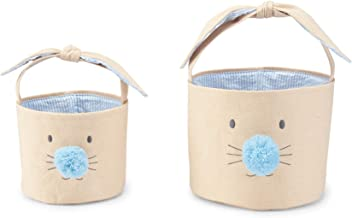 Mud Pie Blue Bunny Face Easter Basket