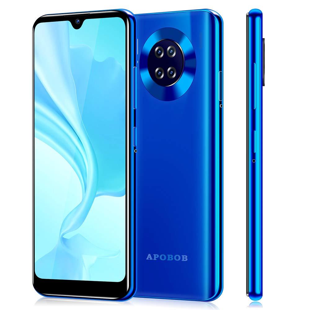Apobob Mate30 Unlocked Smartphones, 6.26 inch HD Smartphone, Android 9.0(AT&T/T-Mobile), Quad Rear Camera Phones, Dual SIM...