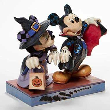 """Enesco Disney Traditions Mickey & Minnie Mouse Terrifying Trick-or-Treaters Figurine, 5"""""""
