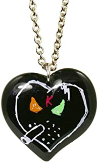 X KidRobot I Love Smorkin Long Heart Necklace in Black