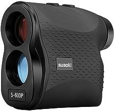 SUAOKI Golf Range Finder Laser Rangefinder 656 Yards/600 Meters with Flag-Lock, Fog, Distance, Speed Measurement, Black