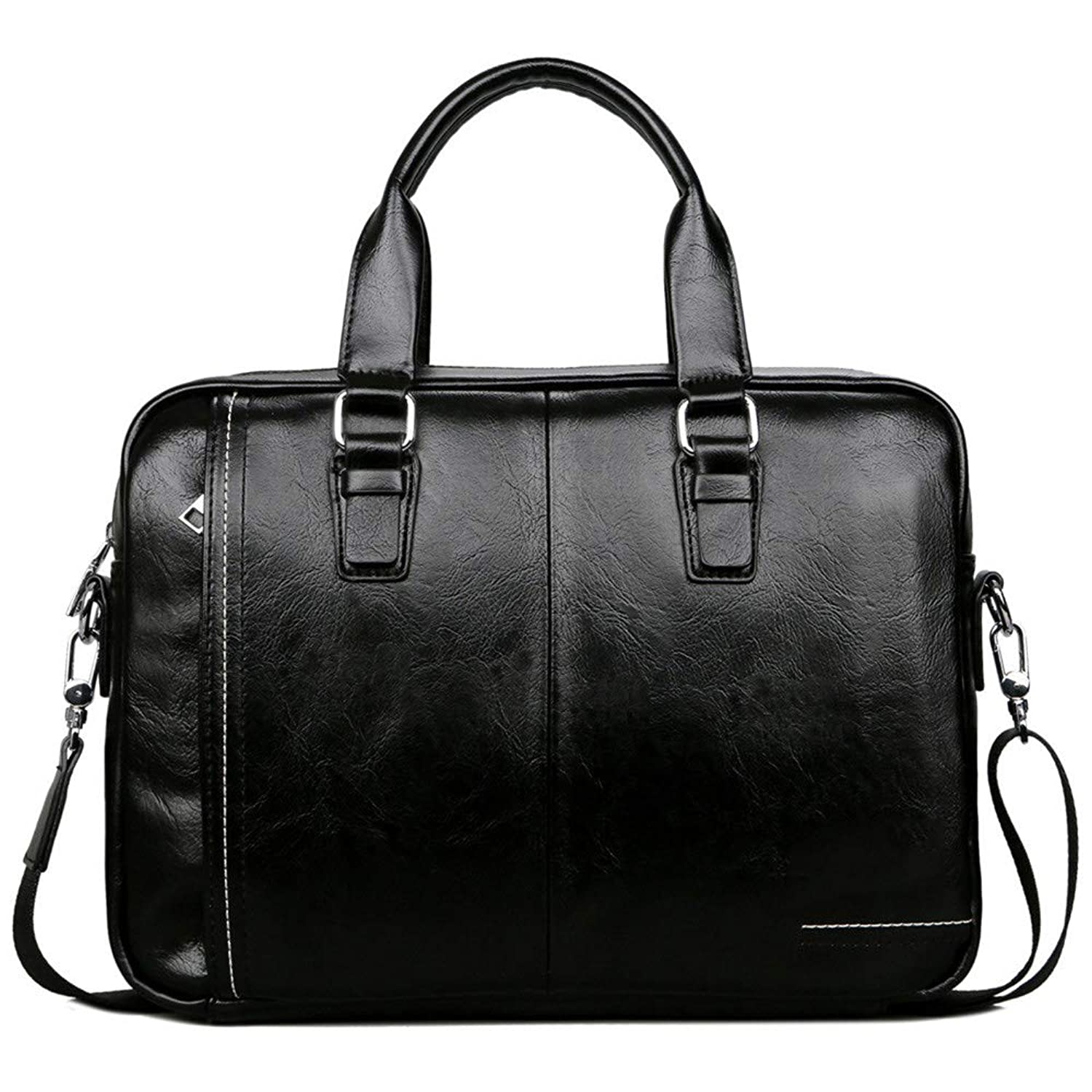 GAOCAN-BG Convenient PU Leather Laptop Bag with Handle and Zip Pocket Men's Briefcase Business Tote Male Travel Bag