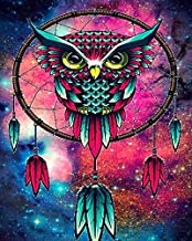 Owl Dream Catcher DIY 5D Full Drill Diamond Painting Kit, Canvas Wall Décor | Canvas Size 30 x 40 cm | 11.8 x 15.7 inches |