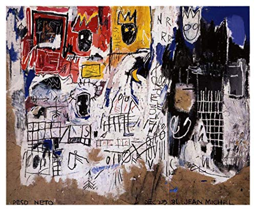 JH Lacrocon Nettogewicht 1981 von Jean-Michel Basquiat - 120X100 cm Graffiti-Kunst Leinwand Gemälde Handgemalt Reproduktionen Gerollte Wandkunst für Wohnzimmer
