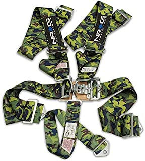 Camo Universal NRG Logo 5 Point Latch Link 16.1 Racing Seat Belt Harness (SFI Approved)