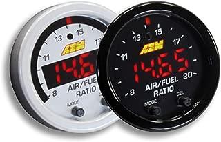 AEM 52mm Wideband UEGO Air Fuel Ratio Sensor Controller Gauge w/ White Face Kit