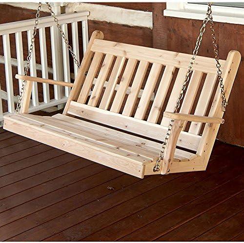 AL Furniture Max 61% OFF Co. Traditional English ... Swing Cedar Red Bargain Porch