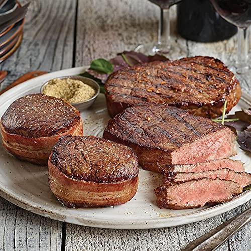 The Heartland Sampler Steak Set - Max 52% OFF 2 OFFicial Mignon Filet Bacon-wrapped a