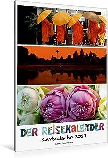 Premium - Lienzo textil (80 cm x 120 cm de alto, un diseño del calendario de viaje Camboya, cuadro sobre bastidor, imagen sobre lienzo auténtico, impresión sobre lienzo (CALVENDO Orte);CALVENDO Orte