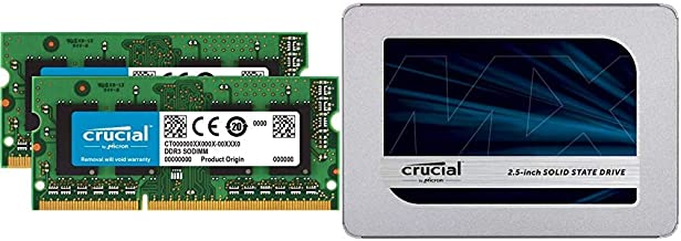 Crucial MX500 250GB 3D NAND SATA 2.5 Inch Internal SSD - CT250MX500SSD1(Z) Bundle with Crucial 8GB Kit (4GBx2) DDR3/DDR3L ...