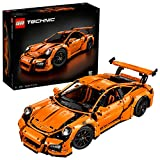 LEGO 42056 Technic Porsche 911 GT3 RS Super Sports Car Toy Model, Collectible Building Set