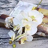warooma orchidee di seta, 6 pezzi con stampa 3d orchidea artificiale vero tocco phalaenopsis fiori finti rami per festa di pasqua, tavola centrotavola casa cucina decorazione matrimonio