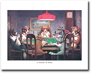 Dogs Playing Poker At Table #1 Wall Picture 8x10 Art Print