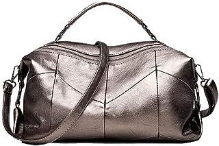 Shoulder Bag Women's Shoulder Bags Casual Zippers Work PU Crossbody Bags Handbag Clutch (Color : Gold)