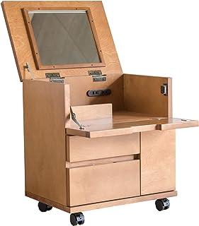 ライフスタイリングショップ 化粧台 鏡台 メイクワゴン 木製 キャスター 幅45cm ライトブラウン LS-6767LB