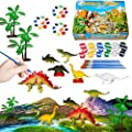 321OU Kids Crafts and Arts Set Painting Kit - Dinosaurs Toys Art and Craft Supplies Party Birthday Favors for Boys Girls Ages 4-12 DIY Gift Creative Activity Easter Paint Your Own Dinosaur Crafts Set