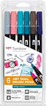 Tombow ABT-6P-5 ABT Dual Brush Pens - Vintage Colours (Pack of 6)