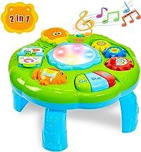 HERSITY Mesa de Actividades Tambor Musical Juguete Educación Temprana Centro de Actividades para Bebé