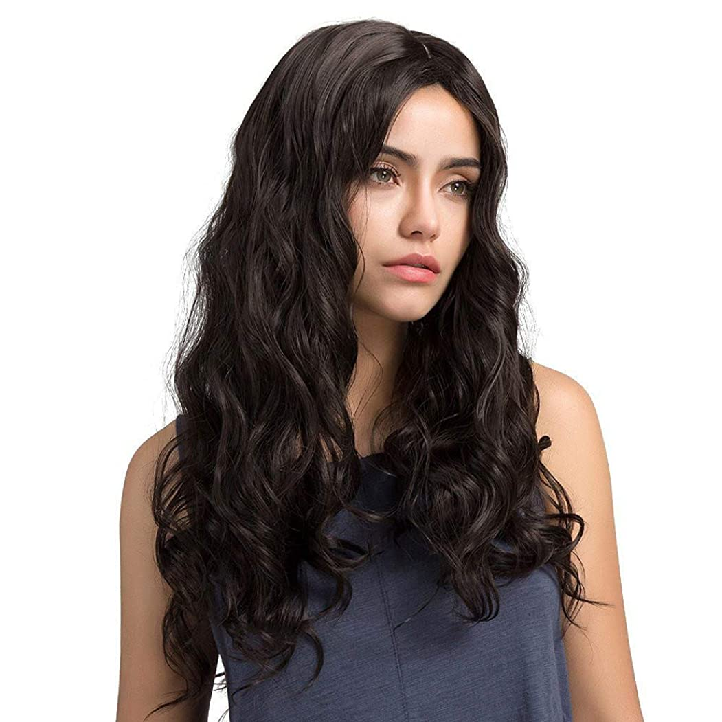 水素ペットマリン女性の小さな波状の長い巻き毛のふわふわのかつら65 cm