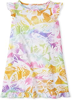 The Children's Place Baby Girls Rainbow Butterfly Nightgown