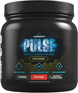 Legion Pulse, Best Caffeine Free Natural Pre Workout Supplement for Women and Men – Powerful Nitric Oxide Booster, Non Stimulant w/Beta Alanine, Citrulline and Alpha GPC, (Caffeine Free Fruit Punch)