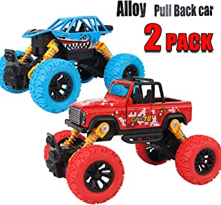 Alloy Pull Back Cars, 2 Pack Car Toys, Super Fast Pull Back and Go Cars for Toddlers, Powerful Toy Cars for Kids, Gifts for 3 4 5 6 7 8 9 10 Year Old Boy, Christmas New Year Gifts