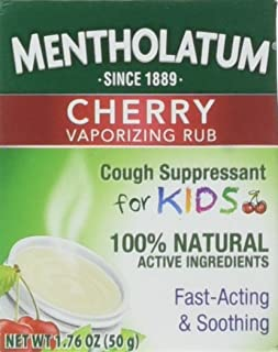 Mentholatum Kids Chst Rub Size 1.76z Mentholatum Kids Cherry Chest Rub 1.76z