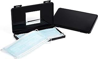 LLJ Boîtes de Rangement pour Masque - Lot de 2 boites Noires de Rangement en Plastique pour Masques Tissu ou Chirurgicaux ...