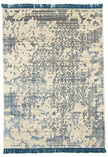 Nain Trading Erased Floral 238x174 Tapis Oriental Gris/Bleu Foncé Noués à la Main Inde Design Moderne