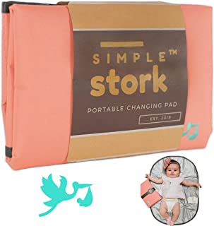 New SIMPLE STORK Portable Changing Pad - Large Foldable Travel Changing Station - Waterproof Baby Changing Mat - 28 x19 Inches