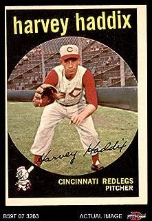 1959 Topps # 184 Harvey Haddix Cincinnati Reds (Baseball Card) Dean's Cards 5 - EX Reds