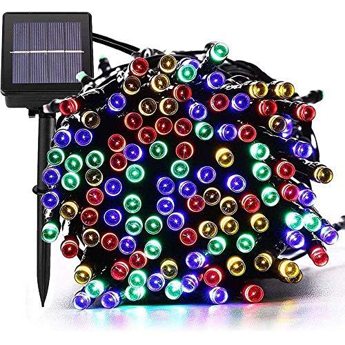 Luces de cadena solares, 72 pies, 200 LED, 8 modos, luces de hadas impermeables, luces solares de cobre para exteriores, utilizadas para jardín, bodas, fiestas, decoración navideña (multicolor), ilum