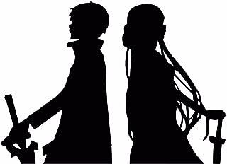 KyokoVinyl Sword Art Online (SAO) - Kirito Asuna Anime Decal Sticker for Car/Truck/Laptop (3.5