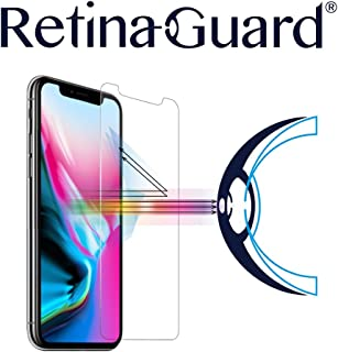RetinaGuard iPhone Xs, iPhone X Anti Blue Light Tempered Glass Screen Protector (Transparent), SGS and Intertek Tested, Blocks Excessive Harmful Blue Light, Reduce Eye Fatigue and Eye Strain