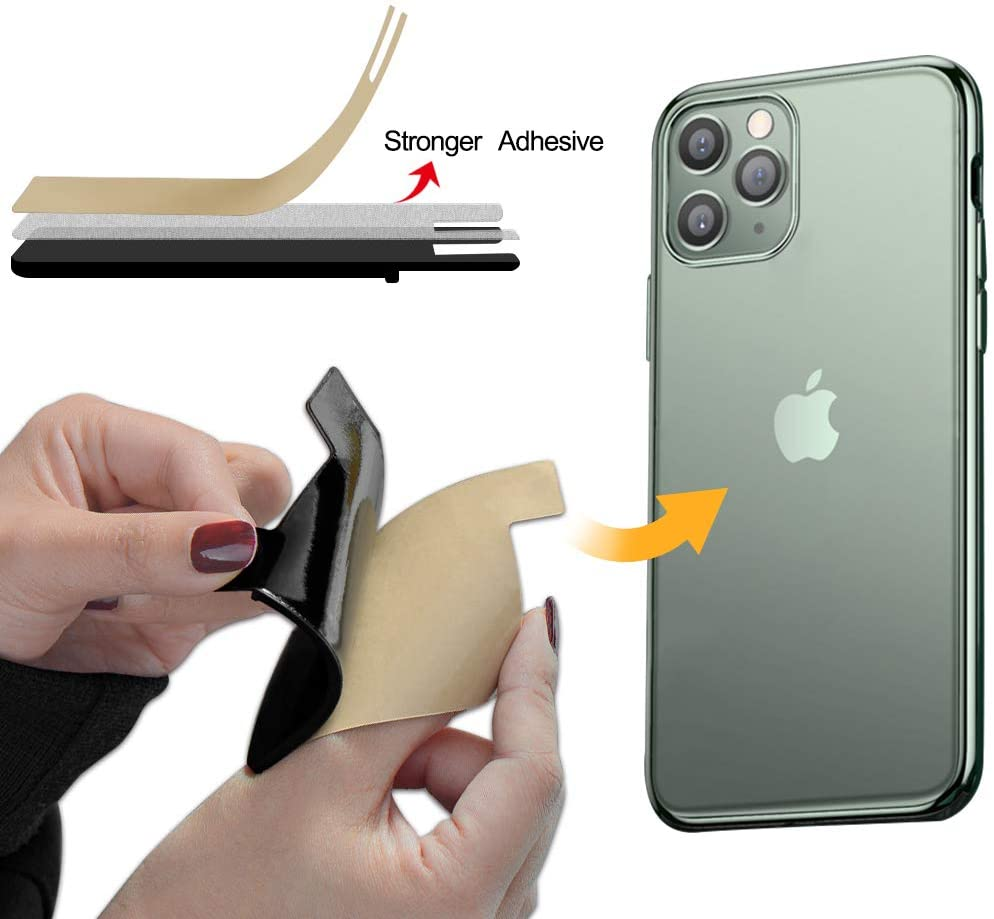Silicone Adhesive Stick on Wallet Phone Pocket Seelve Compatible ...
