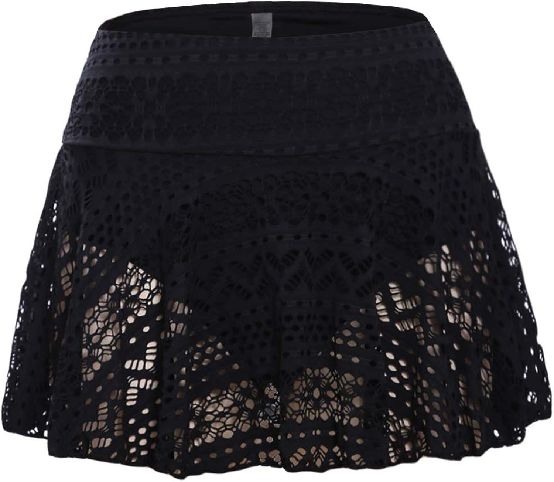 Ecosunny Womens Lace Hollow Out Swimsuit Tankini Bottom Swim Board Shorts(S-XXXL)