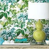 RoomMates - Papel pintado con hojas de selva verde