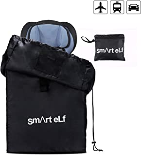 Smart elf Car Seat Travel Bag, Universal Waterproof Size Car Seat Cover Gate Check Drawstring Backpack Bag with Shoulder Straps for Stroller, Car Seats, Boosters and Infant Carriers