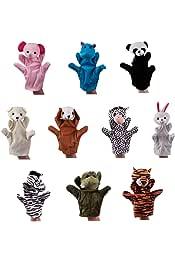YIGO Felpa del Juguete 1pc Panda Marioneta De Mano Animal De La Historieta para Contar Historias Panda Hermano Ni/ño Padres Interactivo Juguete Mullido De La Mano De Marionetas
