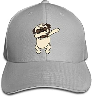 Unisex Dabbing Pug Baseball Cap Adjustable Peaked Sandwich Cap