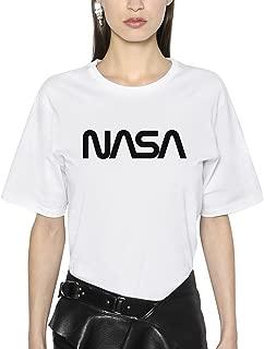 Futuristic NASA Houston Black Unisex White Shirt T-Shirt
