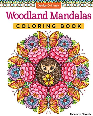 Woodland Mandalas Coloring Book Design Originals 40 Nature Inspired Designs with Flowers Butterflies product image