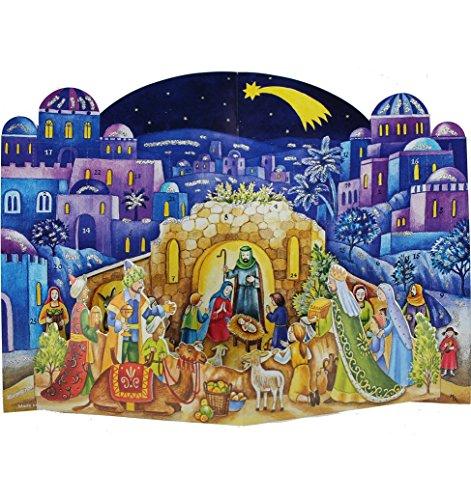 Richard Sellmer Verlag Company 3D Christmas Nativity Advent Calendar Approx 10.25