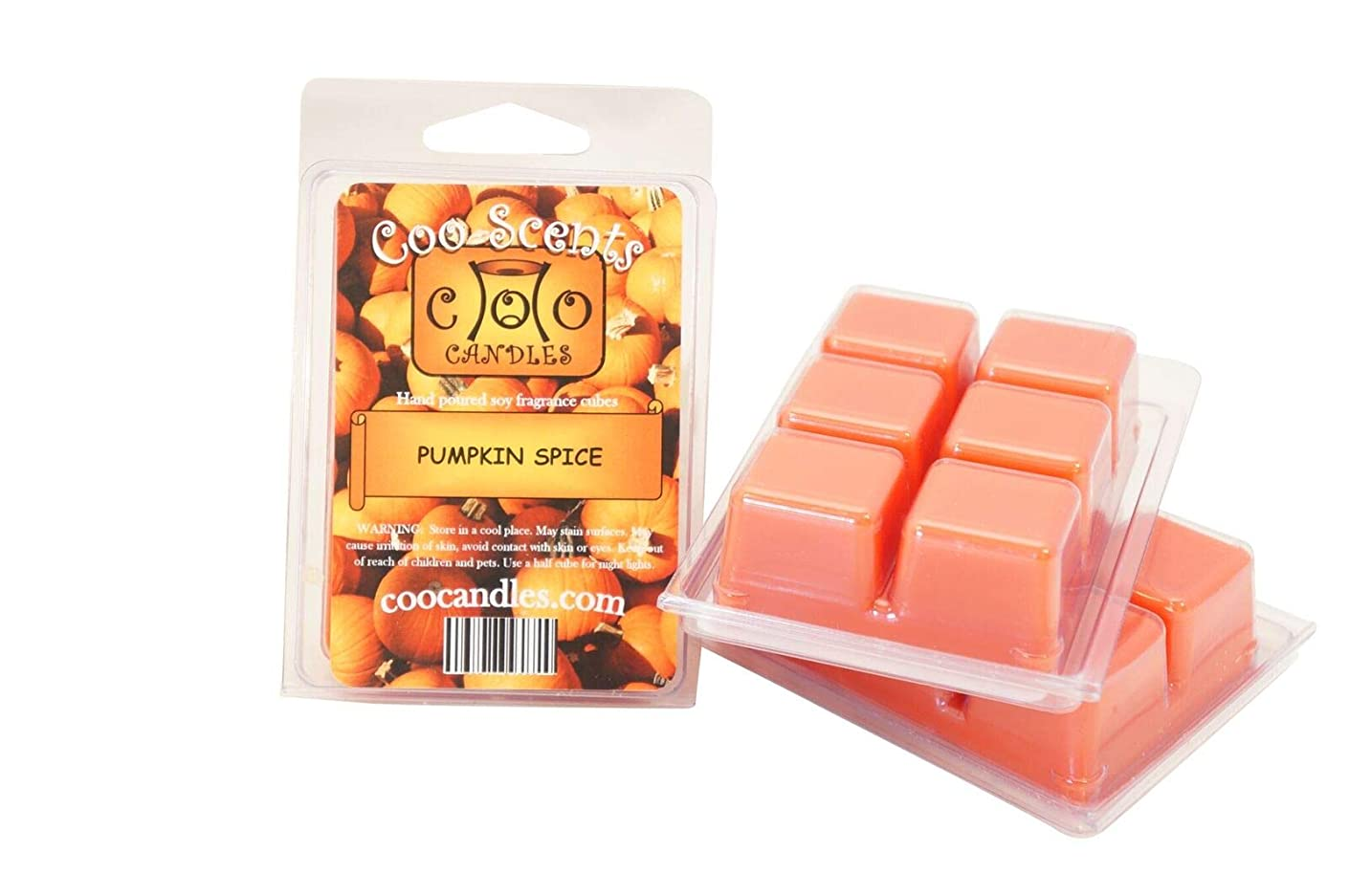 Coo Candles 3 Pack Soy Highly Scented Wickless Candle Bar Wax Melts - Pumpkin Spice