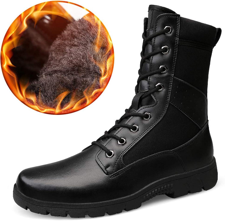 Digga hundben Nya Nya Nya herrars midCalf stövlar Casual Personity Hot Style Genuine läder Imitation Army Martin stövlar (Warm sammet valfri)  sälja som heta kakor